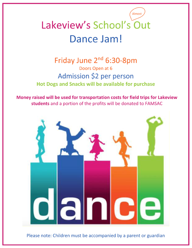 Lakeview Dance Jam poster
