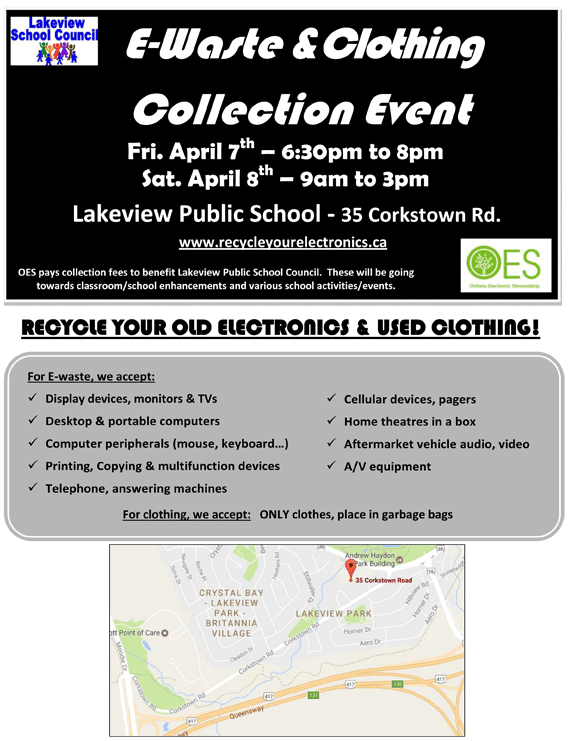 E-waste & Clothing Collection Event
