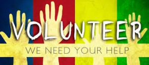 Volunteer! We need your help.