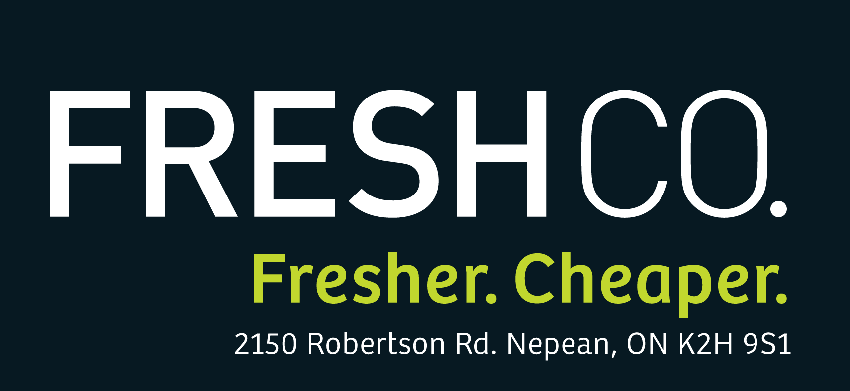 FreshCo. Fresher. Cheaper.