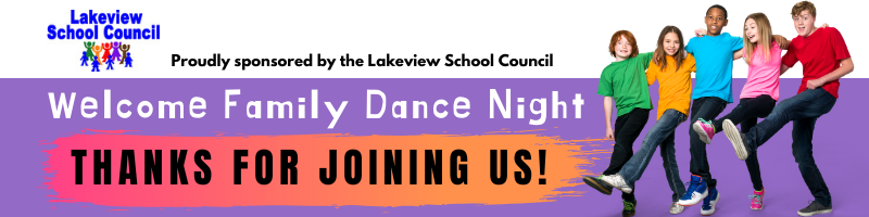 Welcome Family Dance Night: Thanks for joining us!